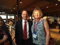 Sue Morrisson, of New Albany, and Reince Preibus, chairman of the Republican National Committee