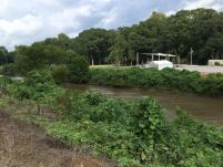 Riverview Stage, seen from the right bank of the Little Tallahatchei River.