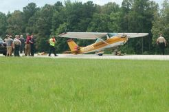 There were no known injuries resulting from the crash of this Cessna 150J