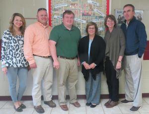 Picture 1: L-R: Endowment Board Representative Carrie Rogers, Jalon Bullock, Chris Russell, Anita Alef, Nannette Ballard, Endowment Board President Keith Conlee