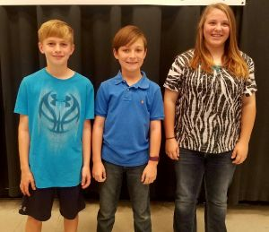 Myrtle School Spelling Bee Winners 1st place Ally Kizer 2nd place Ray Moody 3rd place Jonah Merritt These students will compete in Union County Spelling Bee in January.