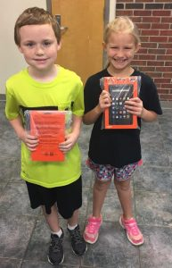 The New Albany School District is promoting perfect attendance during the months of October and November. New Albany Elementary School encouraged good attendance during the month of October with a drawing. For each week in the months of October and November that a student had perfect attendance, their name was placed in a drawing. October Perfect Attendance winners of a kindle fire are: Austin Gasaway, a third grader from Vicki Latham's class and Avie Bryan, a second grader from Casie Cook's class