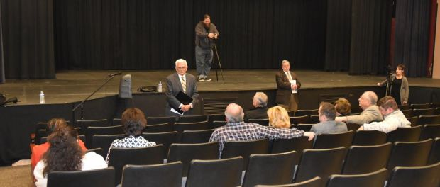 Attendees of community meeting regarding superintendent search