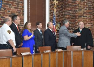 Board of Aldermen oaths of office