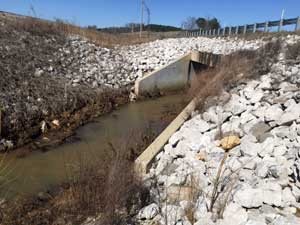 Record rainfall box culvert