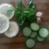 Lemon, Ginger, Cucumber & Mint Detox Water