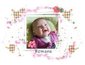 Romane, 2 moi et demi, arrivée en avril 2012 à aujourd'hui