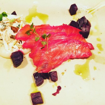 Beetroot Cured Salmon