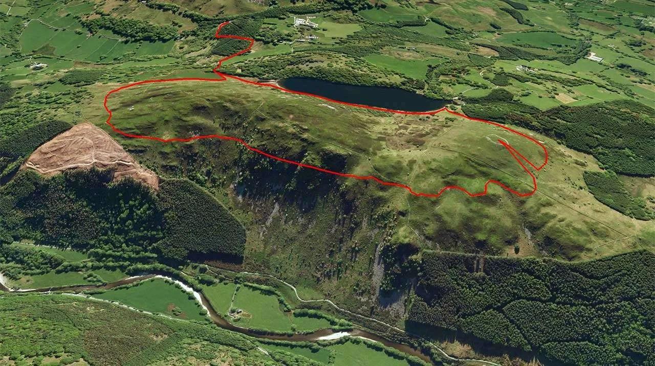 Precipice Walk Plotted on Google Earth
