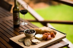 Nannup Bush Retreat - Grasing plate in front of the bush