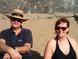 Strandhäng med Andres och Eva