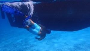 Magnus gör en undervattenskoll på Nanny