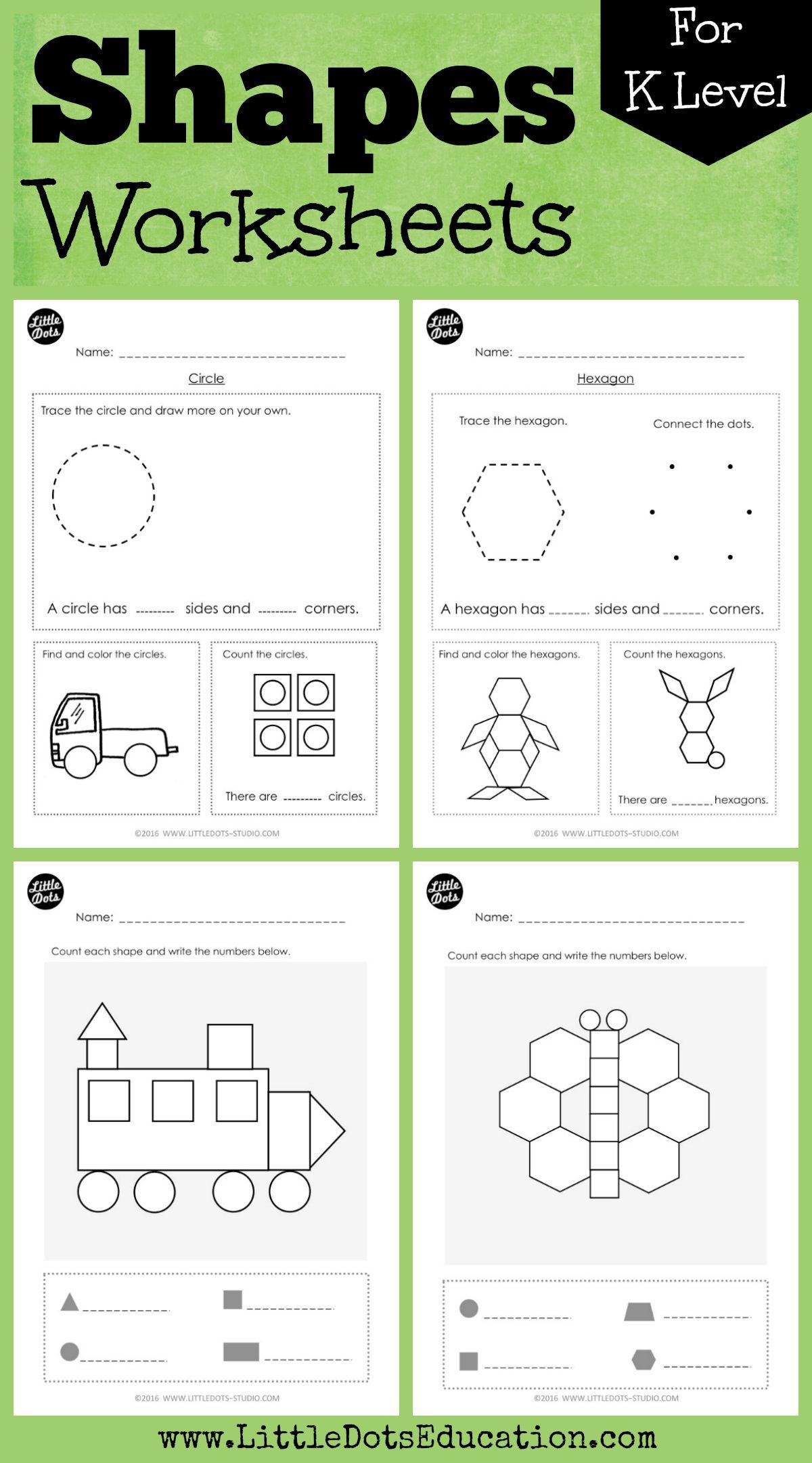 21 Best Preschool Shapes Worksheets Images On Best