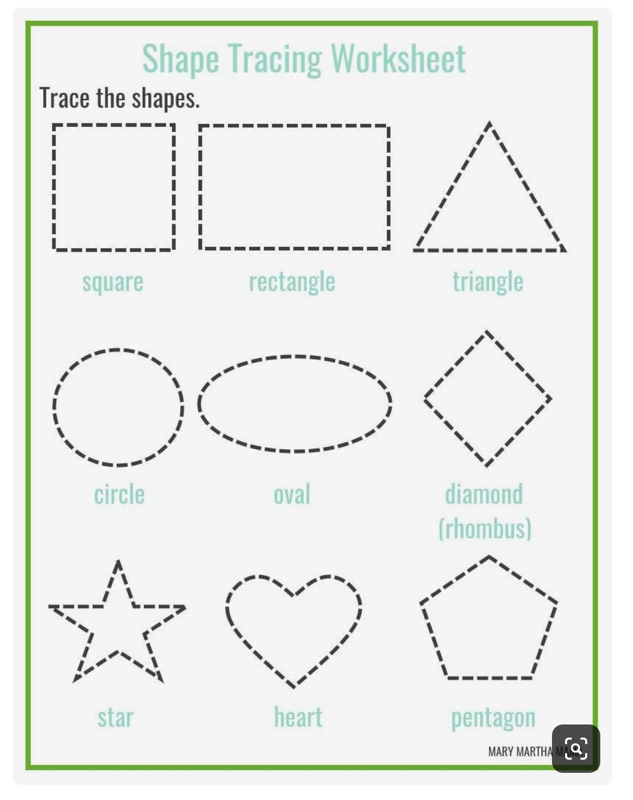 22 Best Tracing Shapes Worksheets Images On Best
