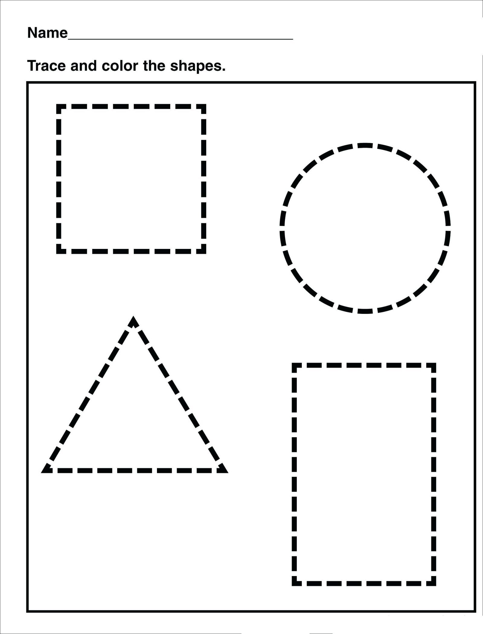 Tracing Shape Tracing Preschool Free Printable Worksheets