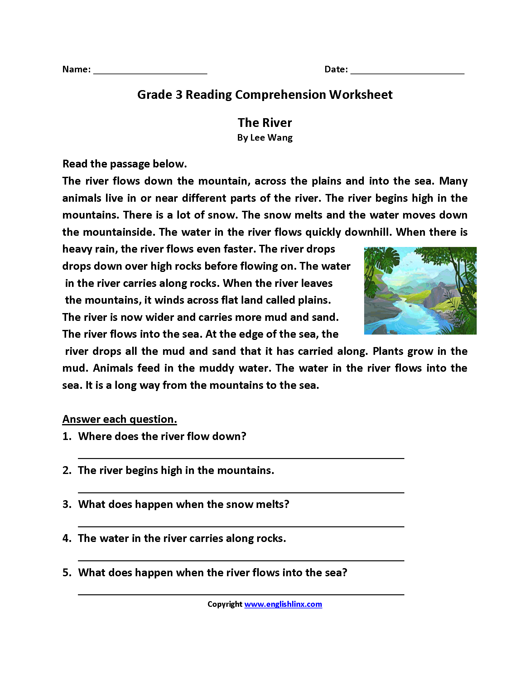 13 Best 3rd Grade Reading Worksheets To Print Images On