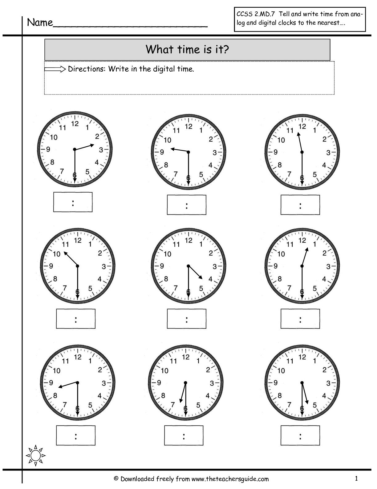 15 Best Clock Worksheets Images On Best Worksheets Collection