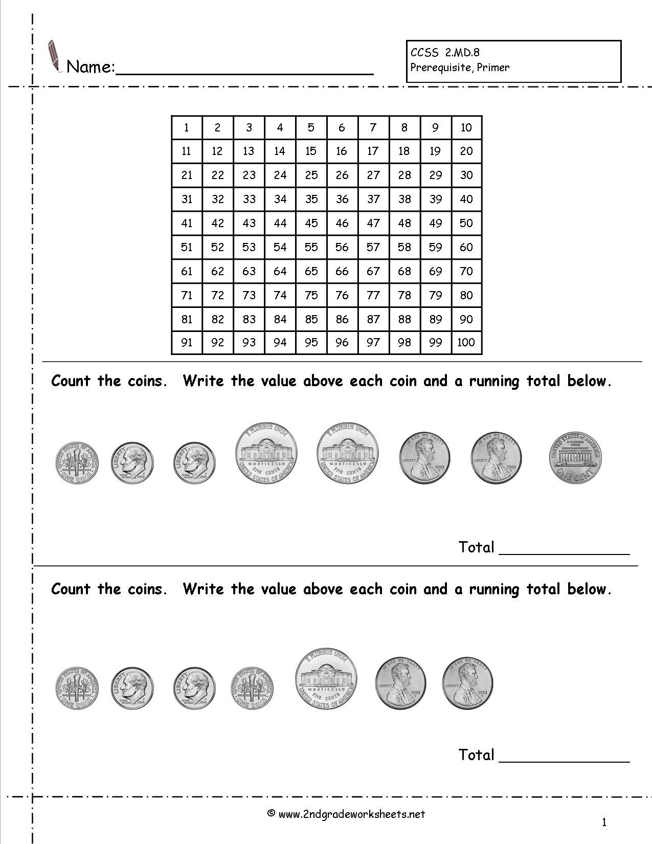 16 Best Identifying Money Worksheets Images On Best