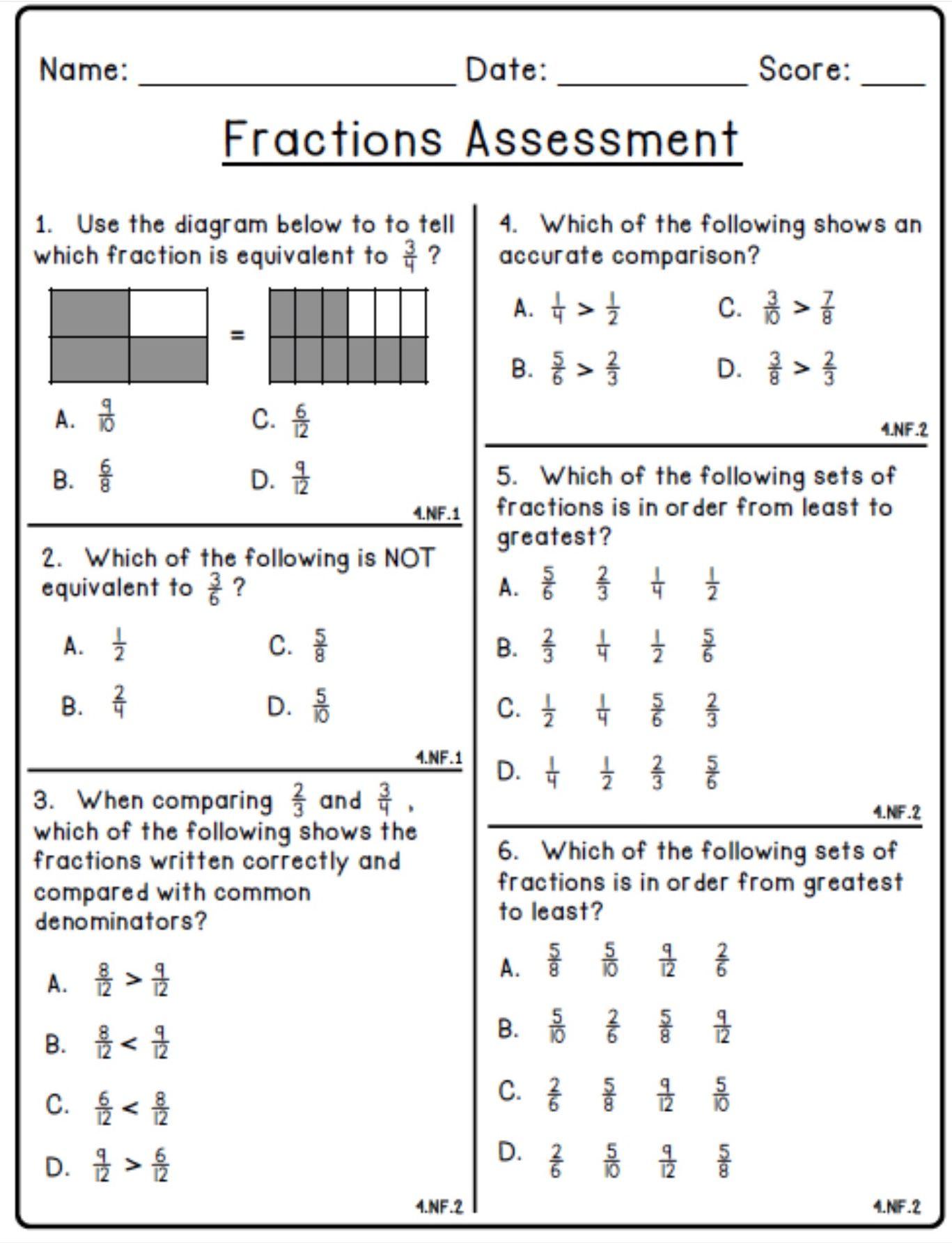 19 Best Fraction Math Worksheets Grade 6 Images On Best