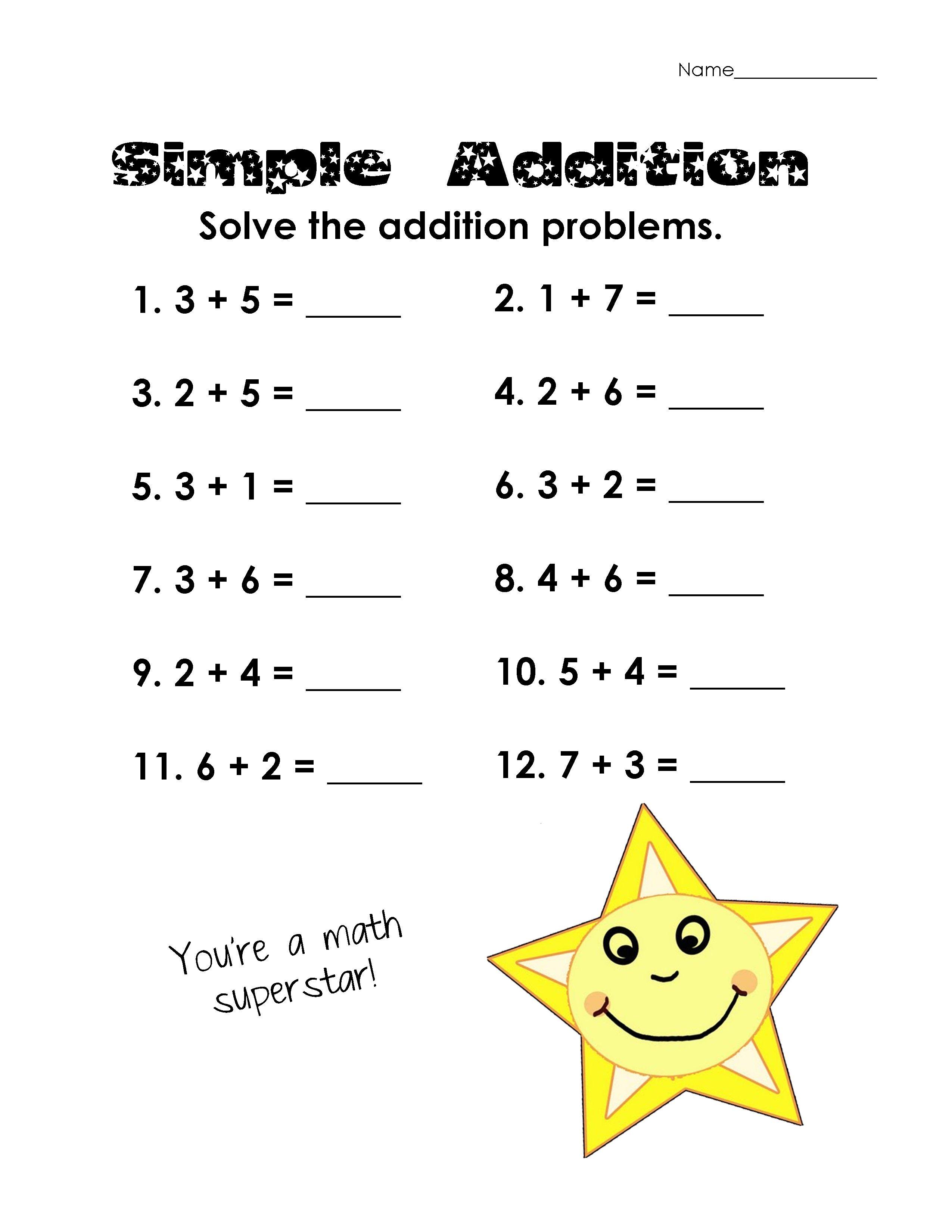 17 Best Adding 1 Math Worksheets Images On Best Worksheets
