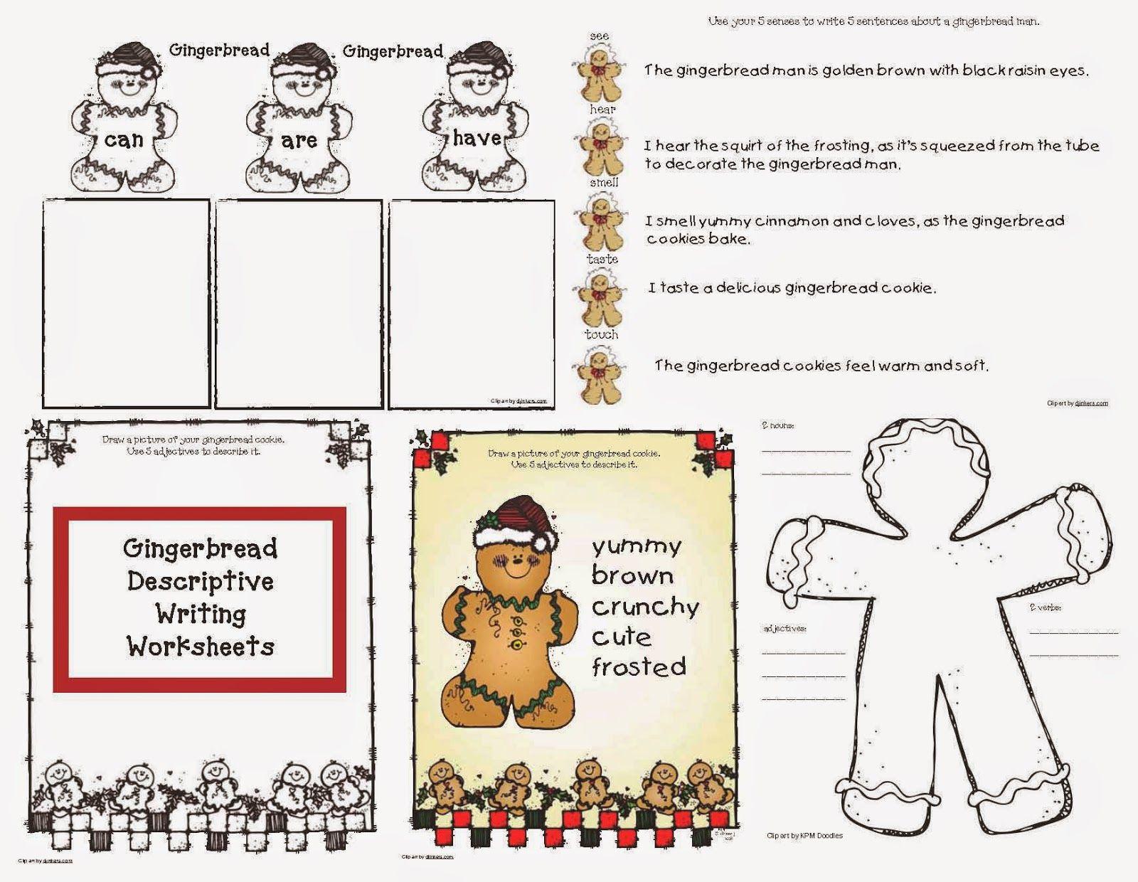 Gingerbread Descriptive Writing Worksheets
