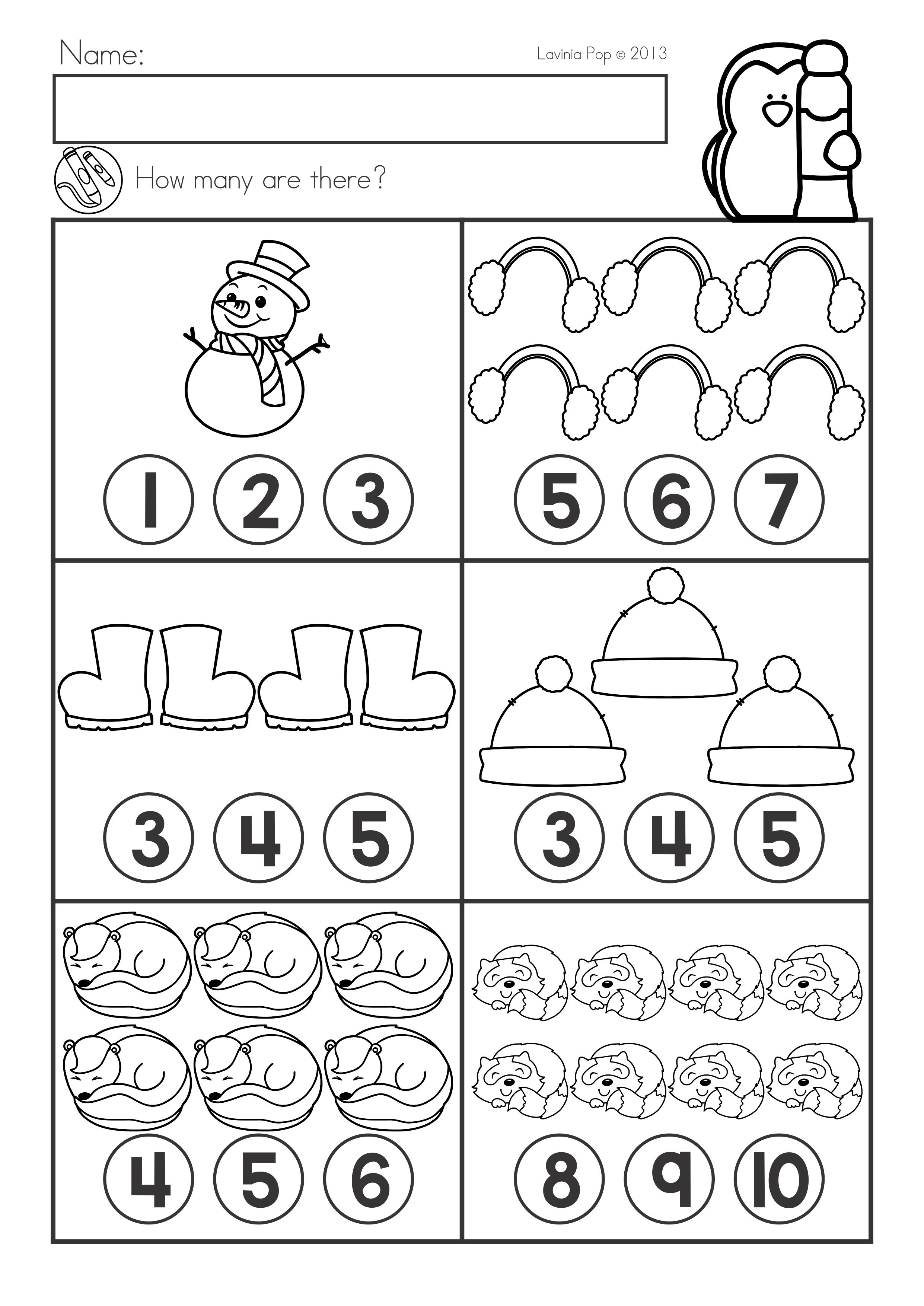 9 Best Winter Preschool Writing Worksheets Images On Best