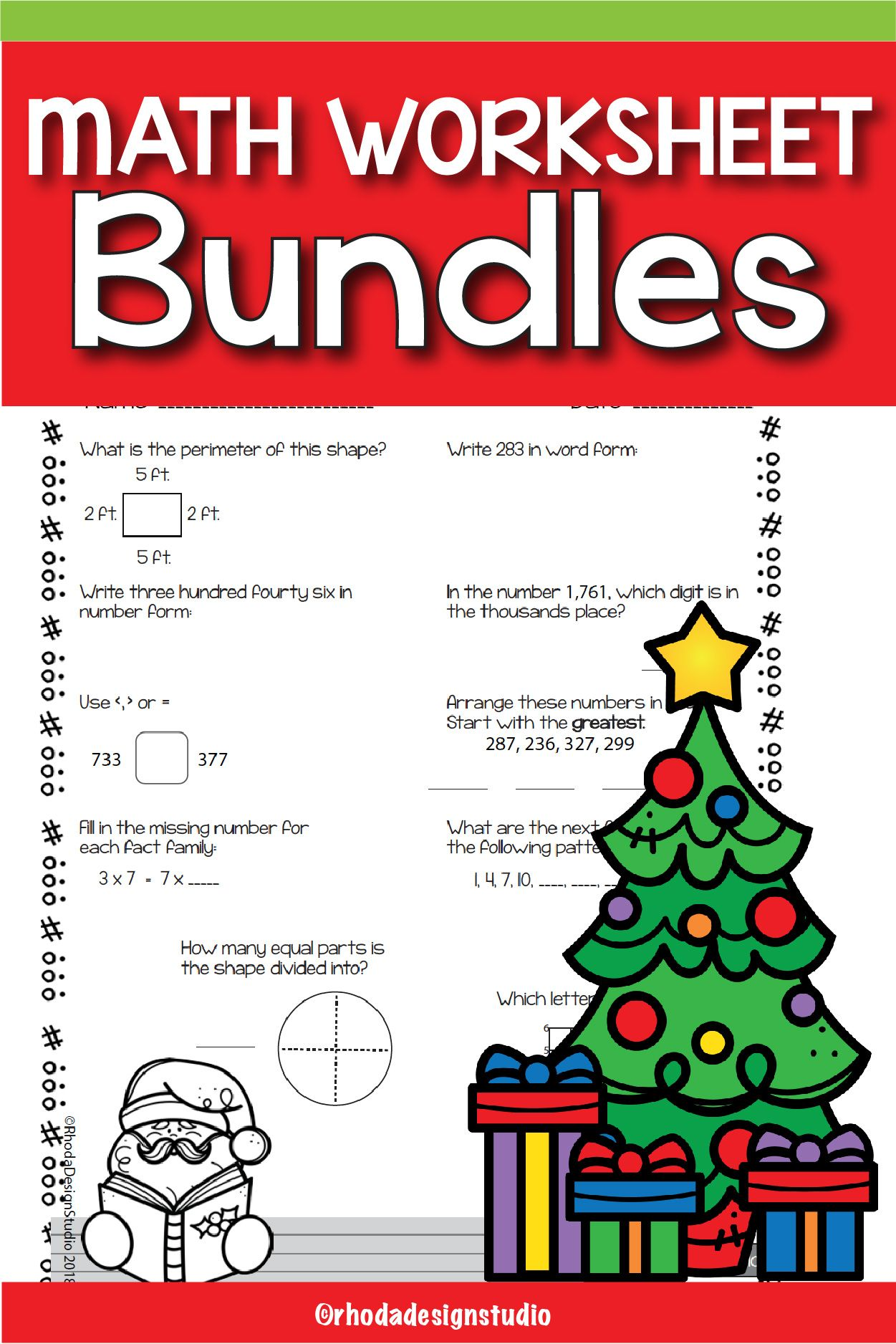 14 Best Christmas Worksheets For 4th Graders Images On