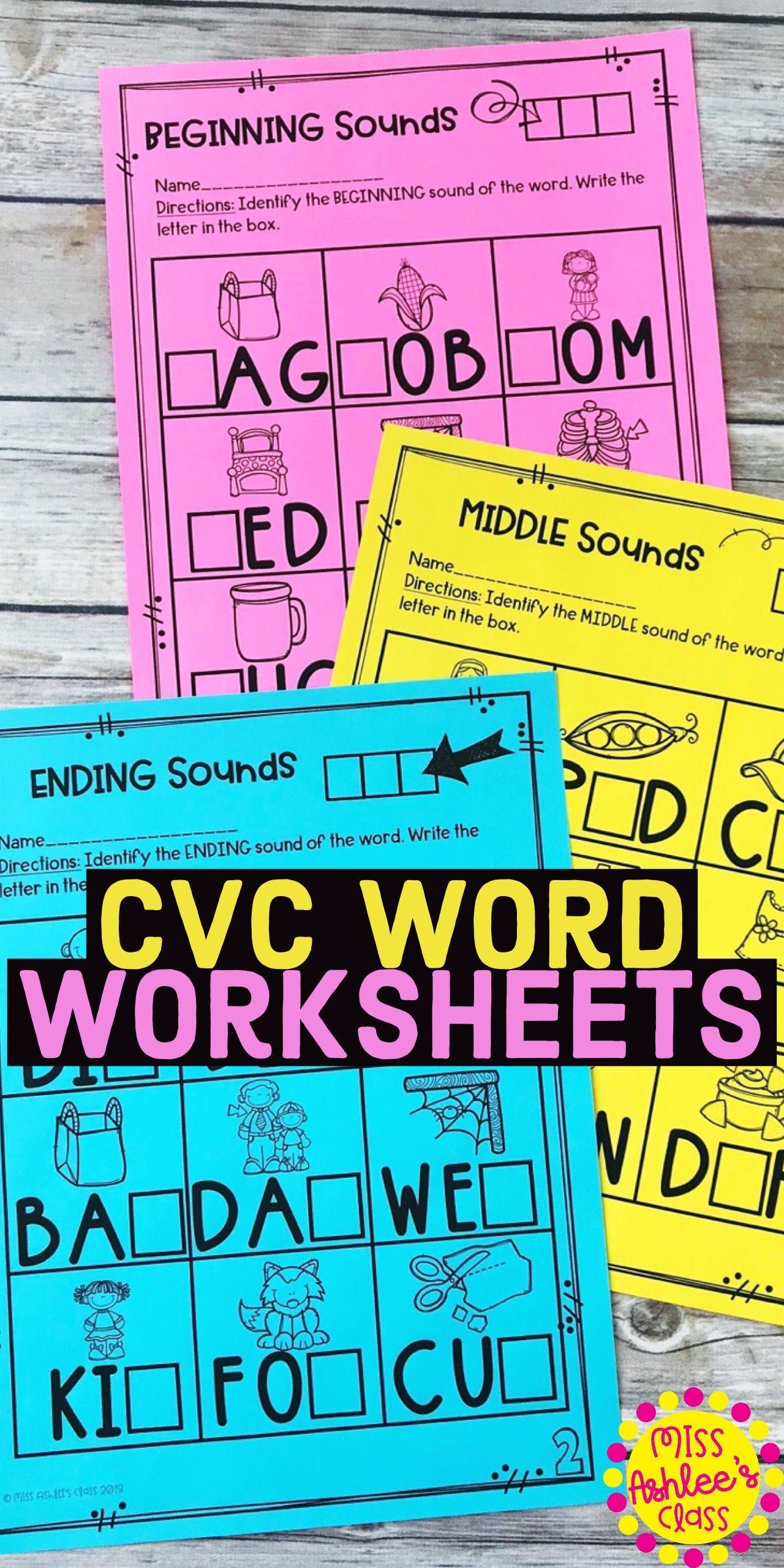 10 Best Beginning And Ending Sounds Worksheets Images On