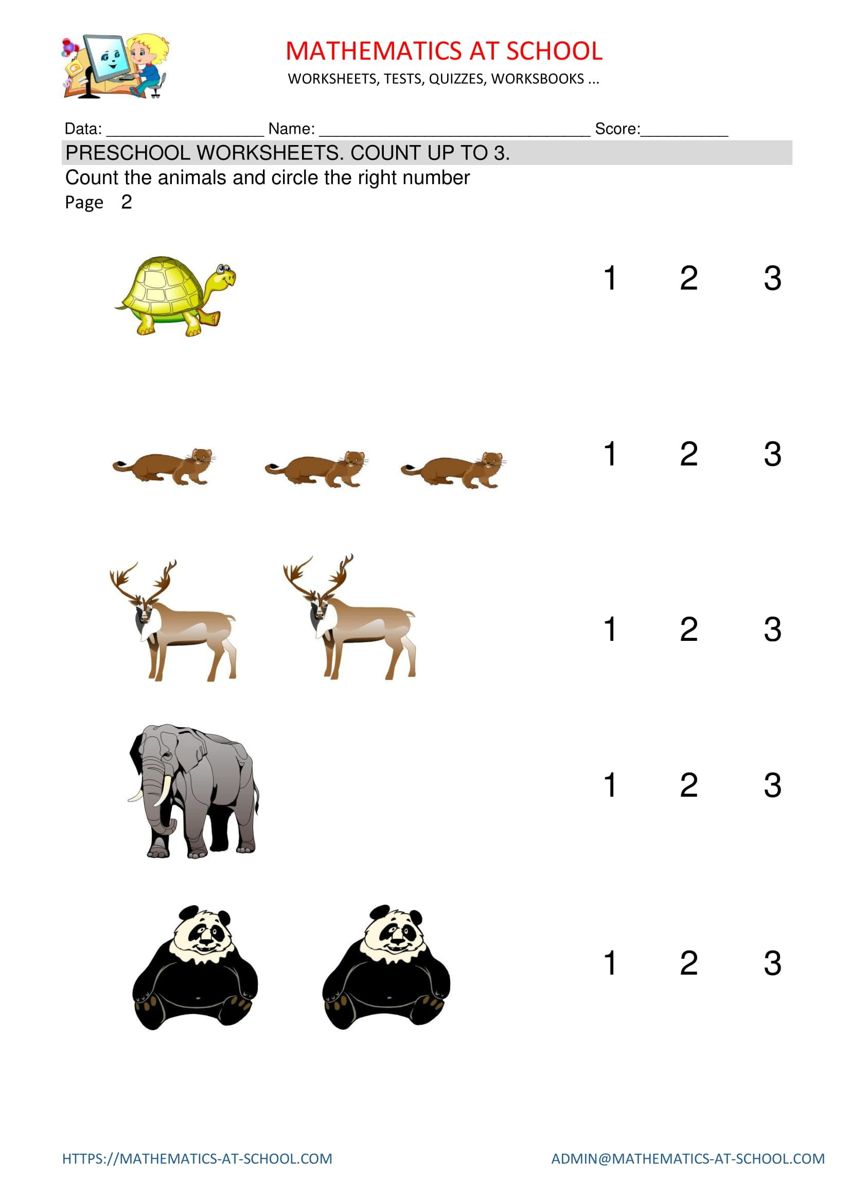 15 Best Printable Math Worksheets Counting Images On Best