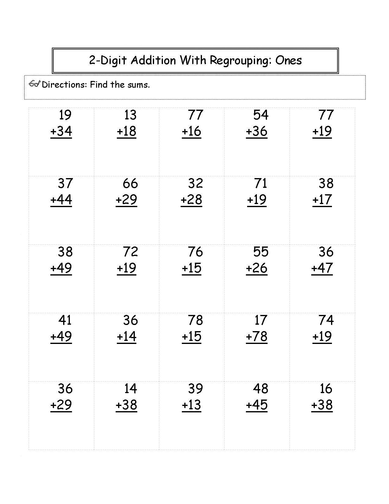 12 Best 2nd Grade Math Worksheets Adding Images On Best