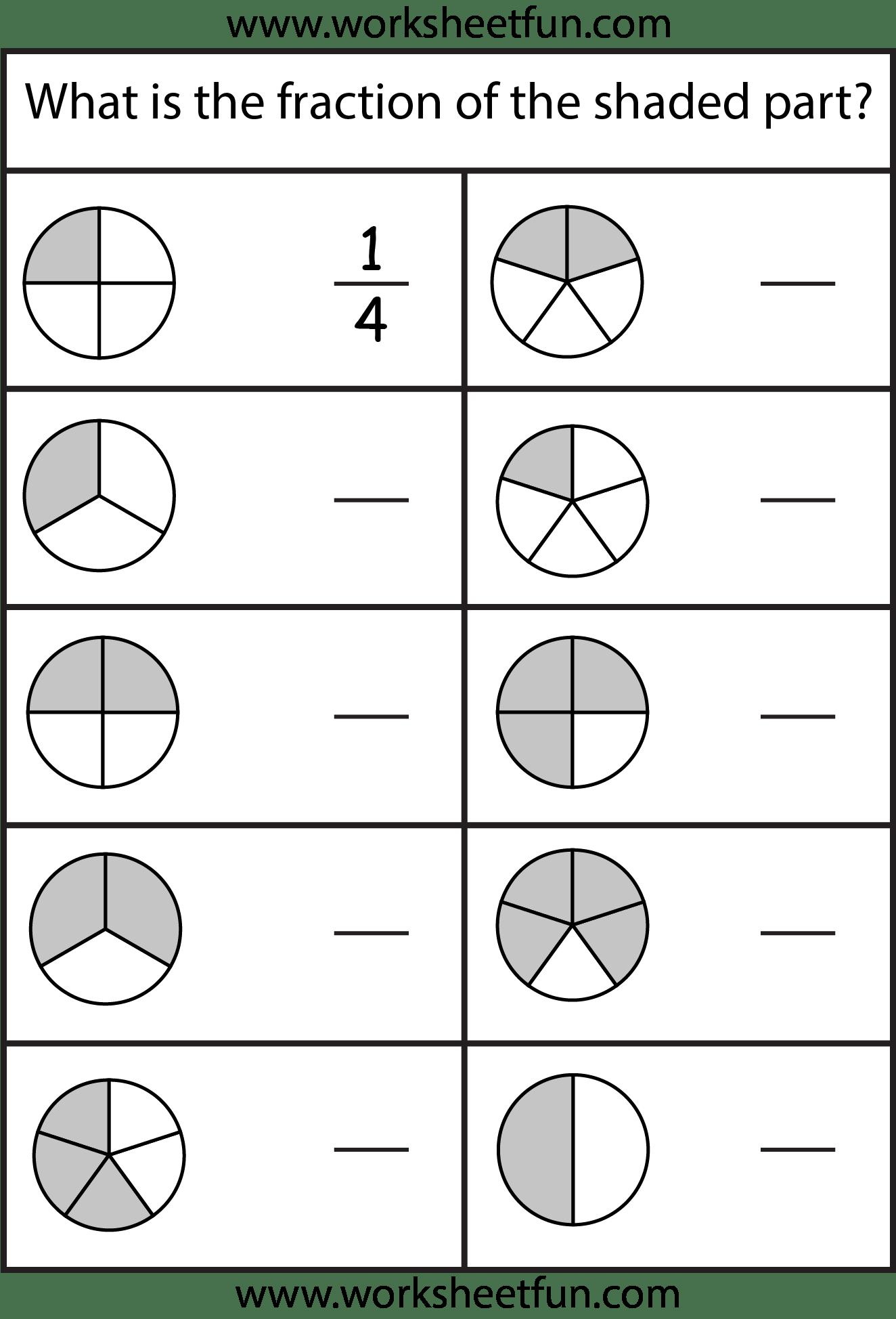 21 Best Beginning Fraction Worksheets To Print Images On
