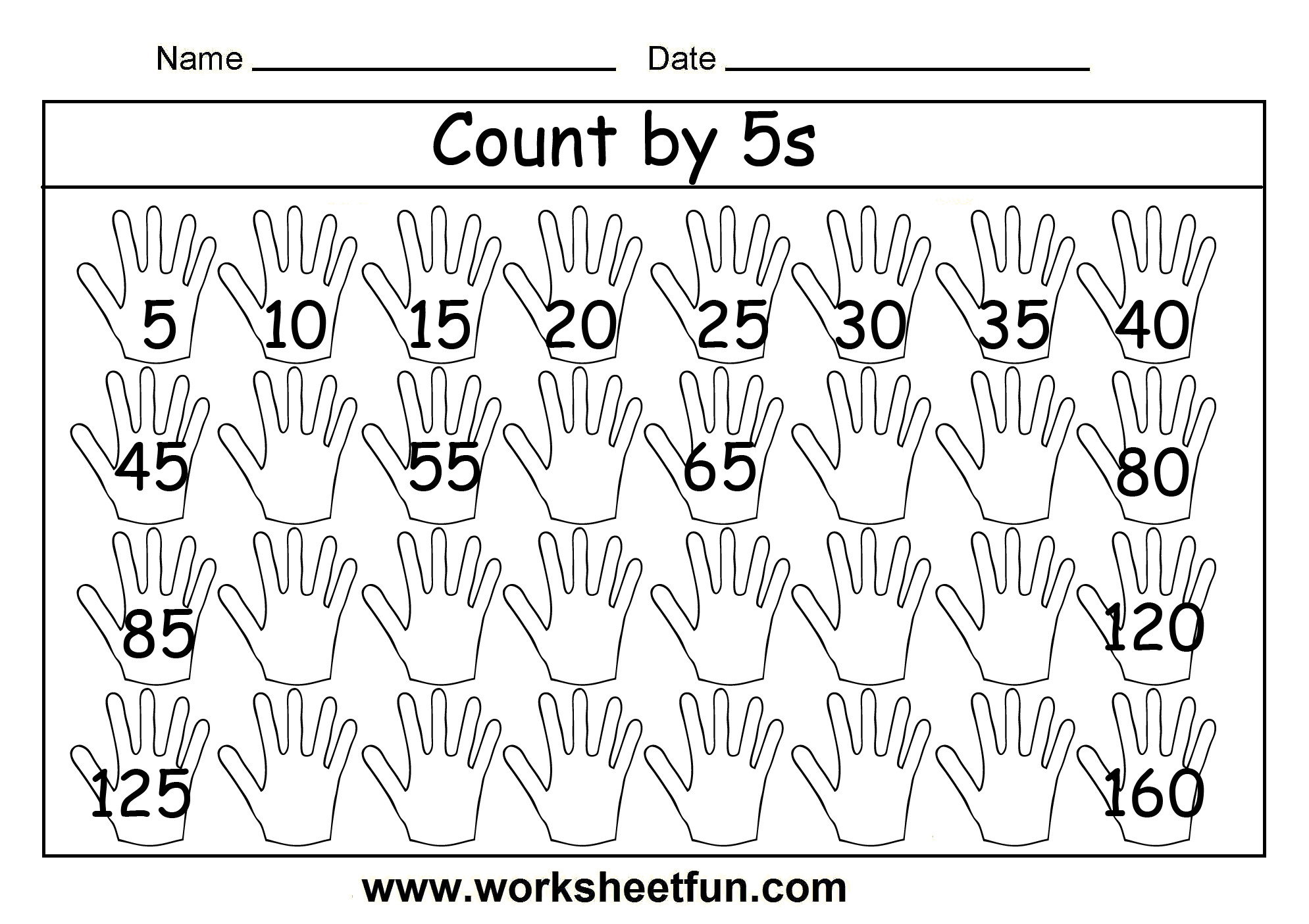 Free Fall Counting Worksheets 1 5
