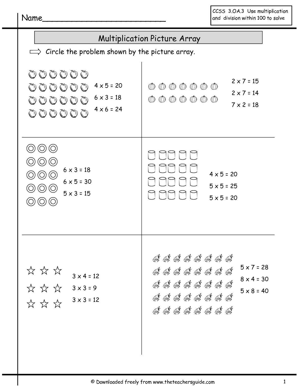 15 Best Third Grade Math Multiplication Worksheets Images