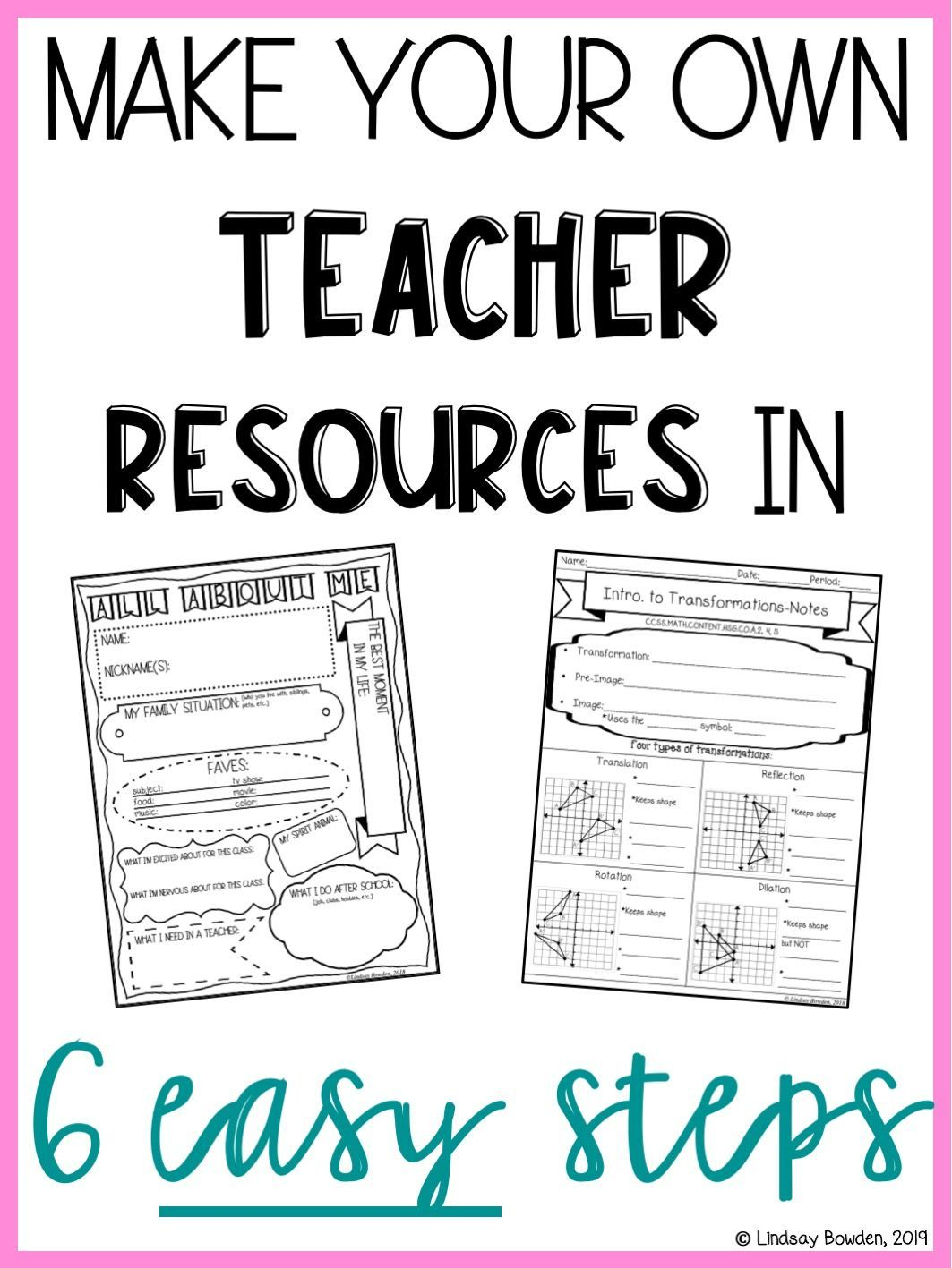 Make Your Own Teacher Resources In 6 Easy Steps Make