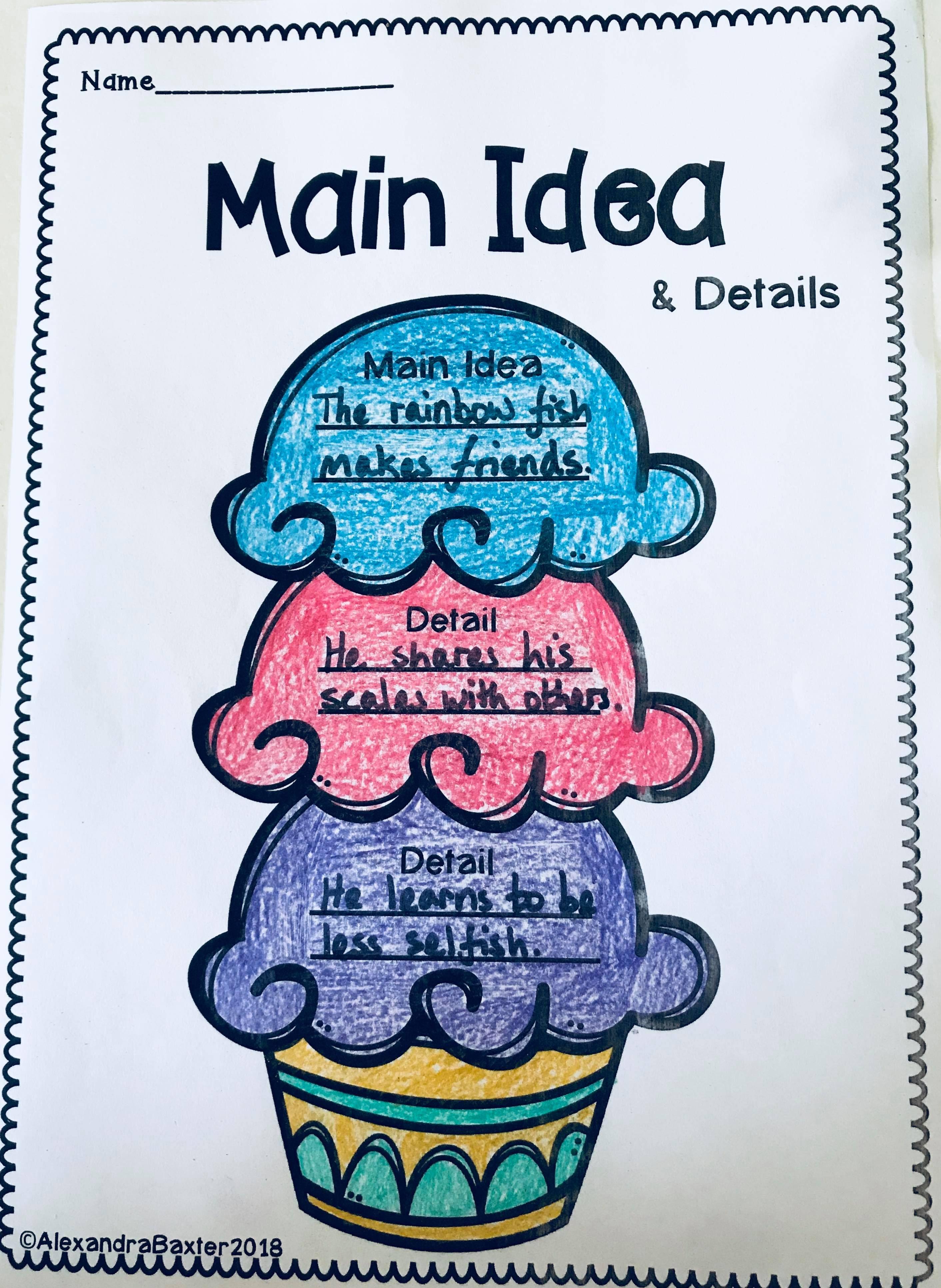 12 Best Main Idea Worksheets For Kindergarten Images On