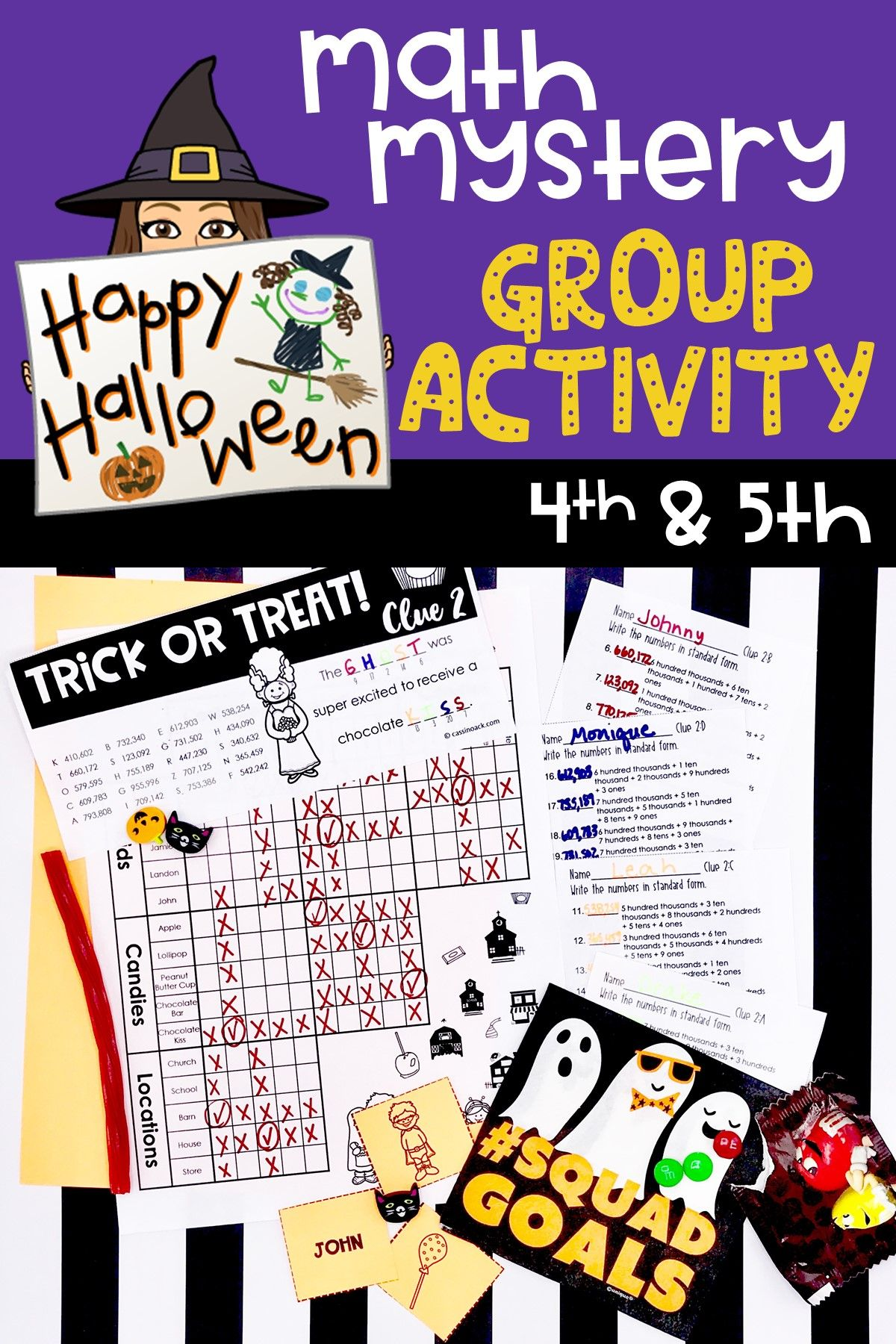 8 Best Halloween Math Worksheets Grade 7 Images On Best