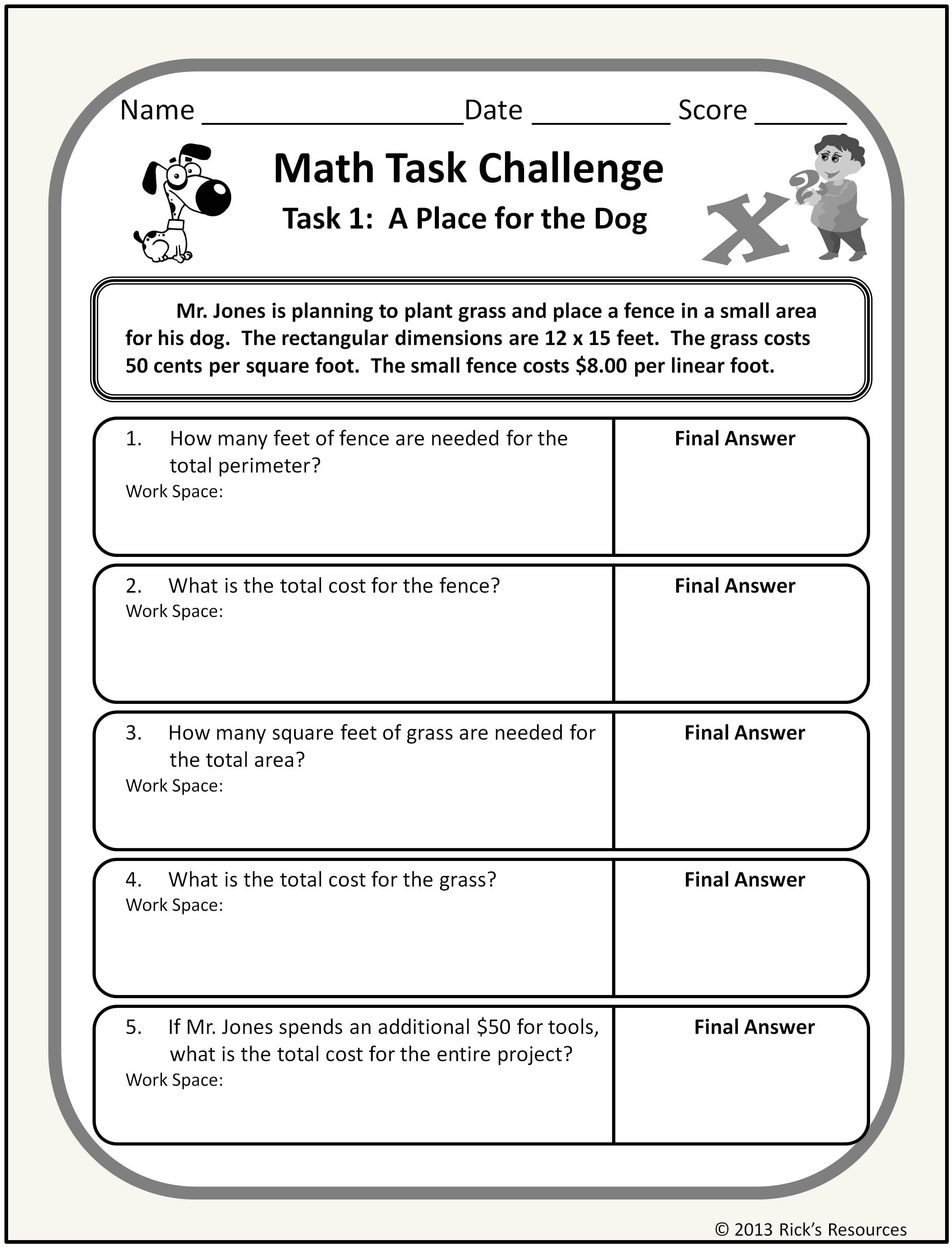 7 Best 7th Grade Math Worksheets Problems Images On Best