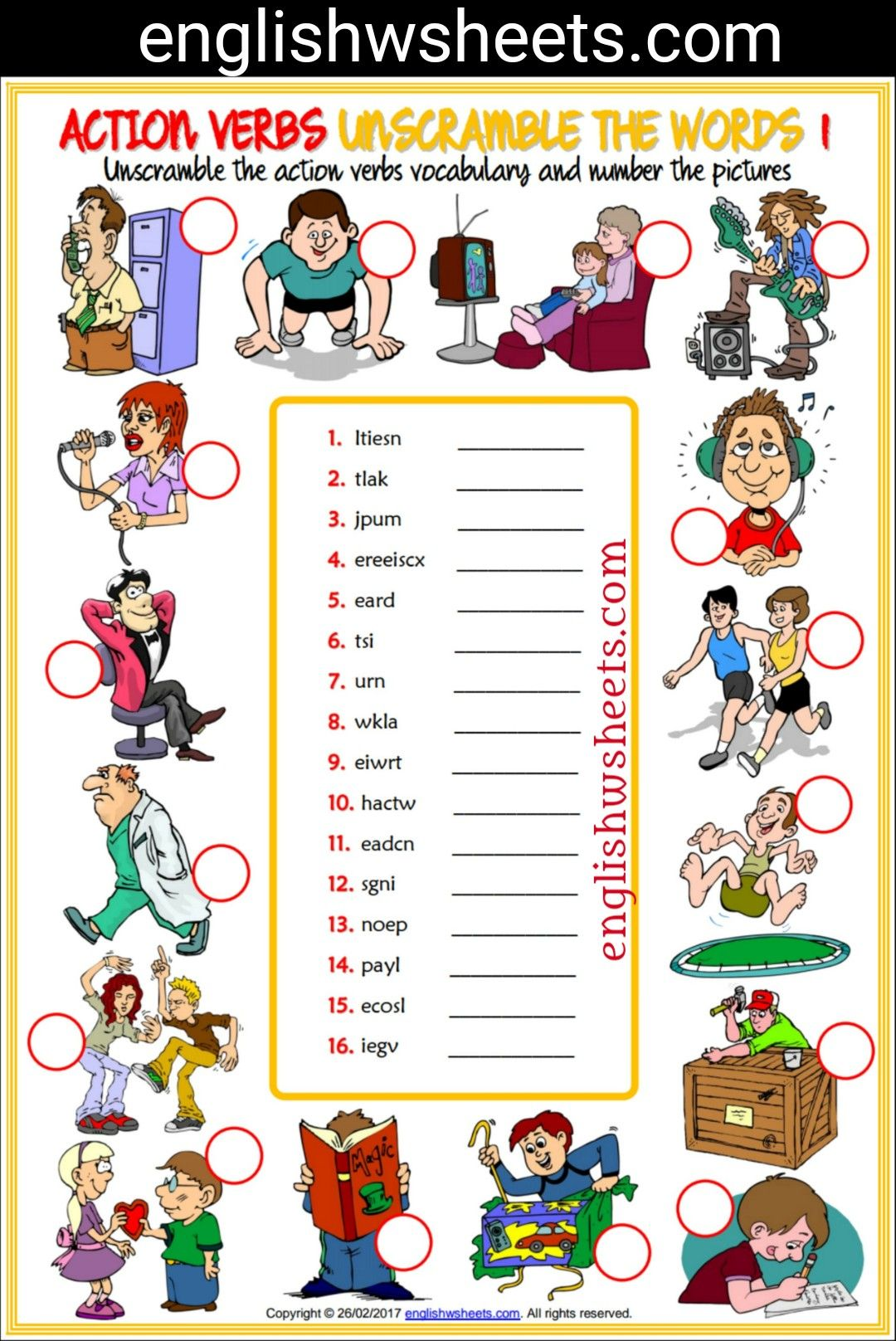Work Sheets For Kids