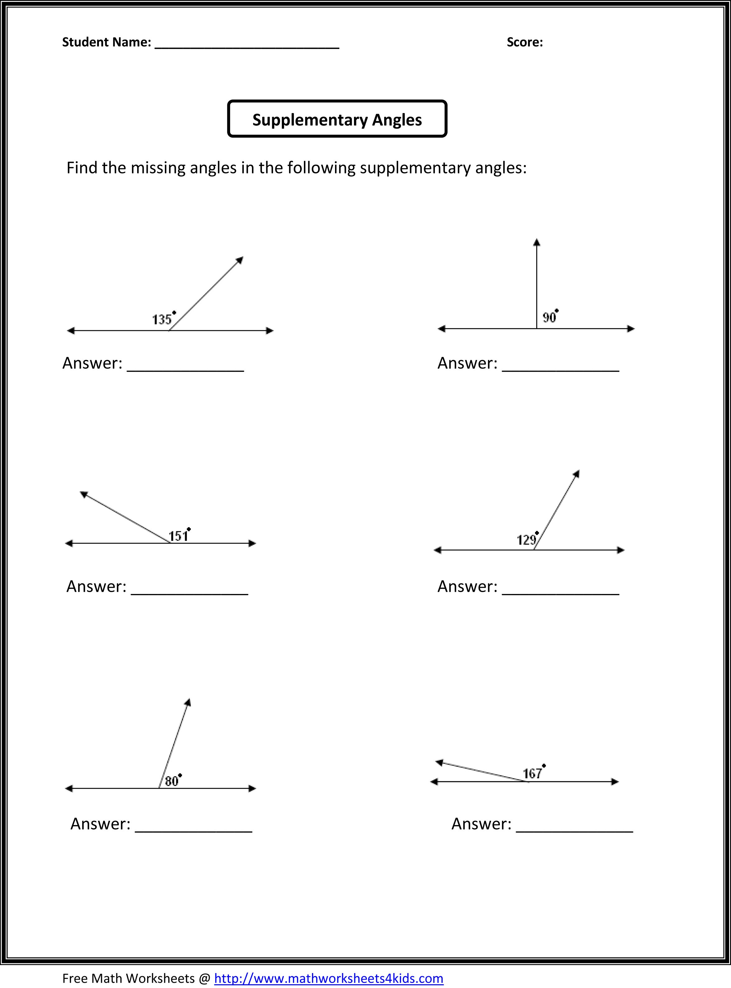 10 Best Printable Geometry Worksheets With Answers Images