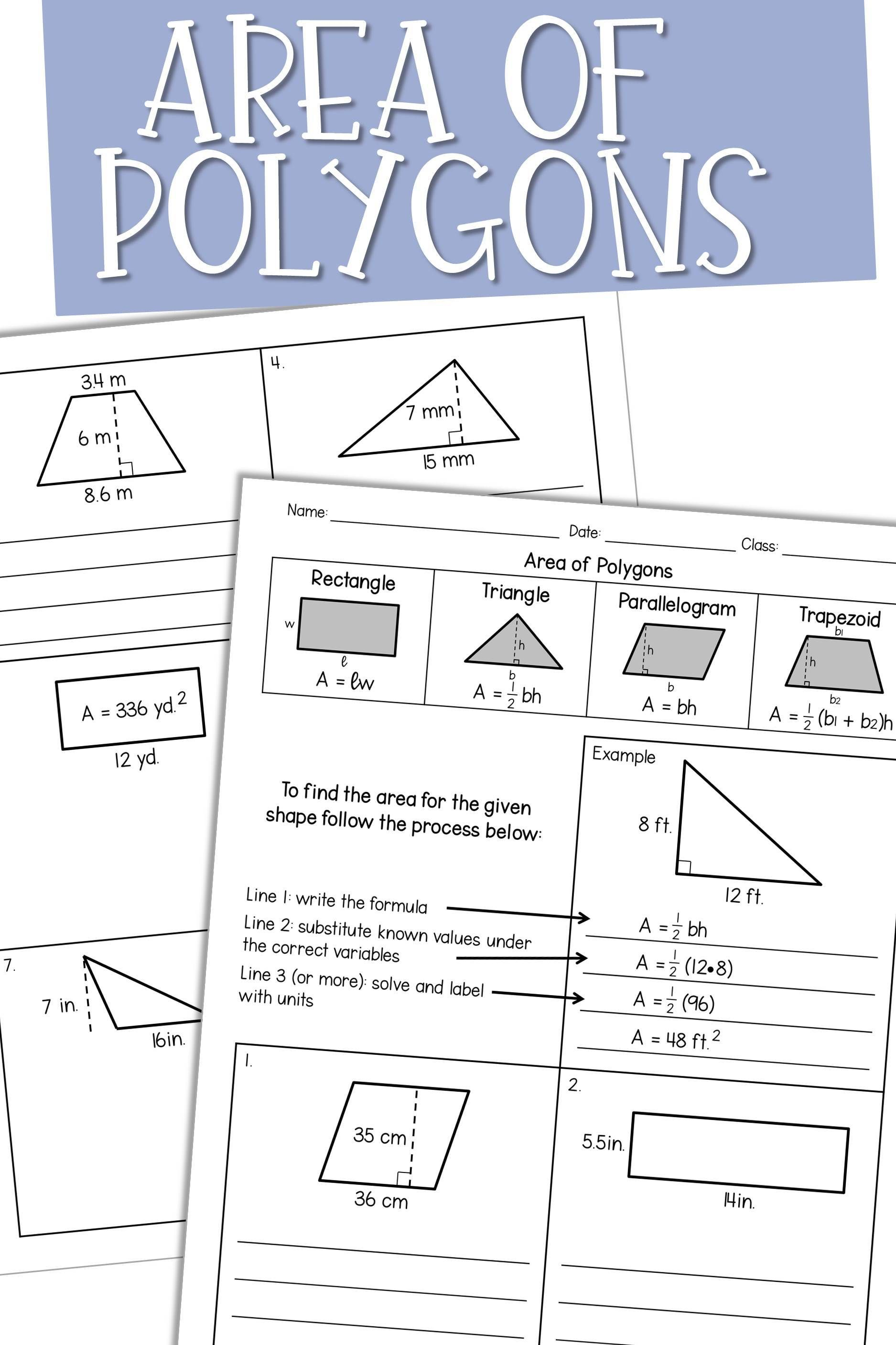 13 Best High School Geometry Worksheets Area Images On