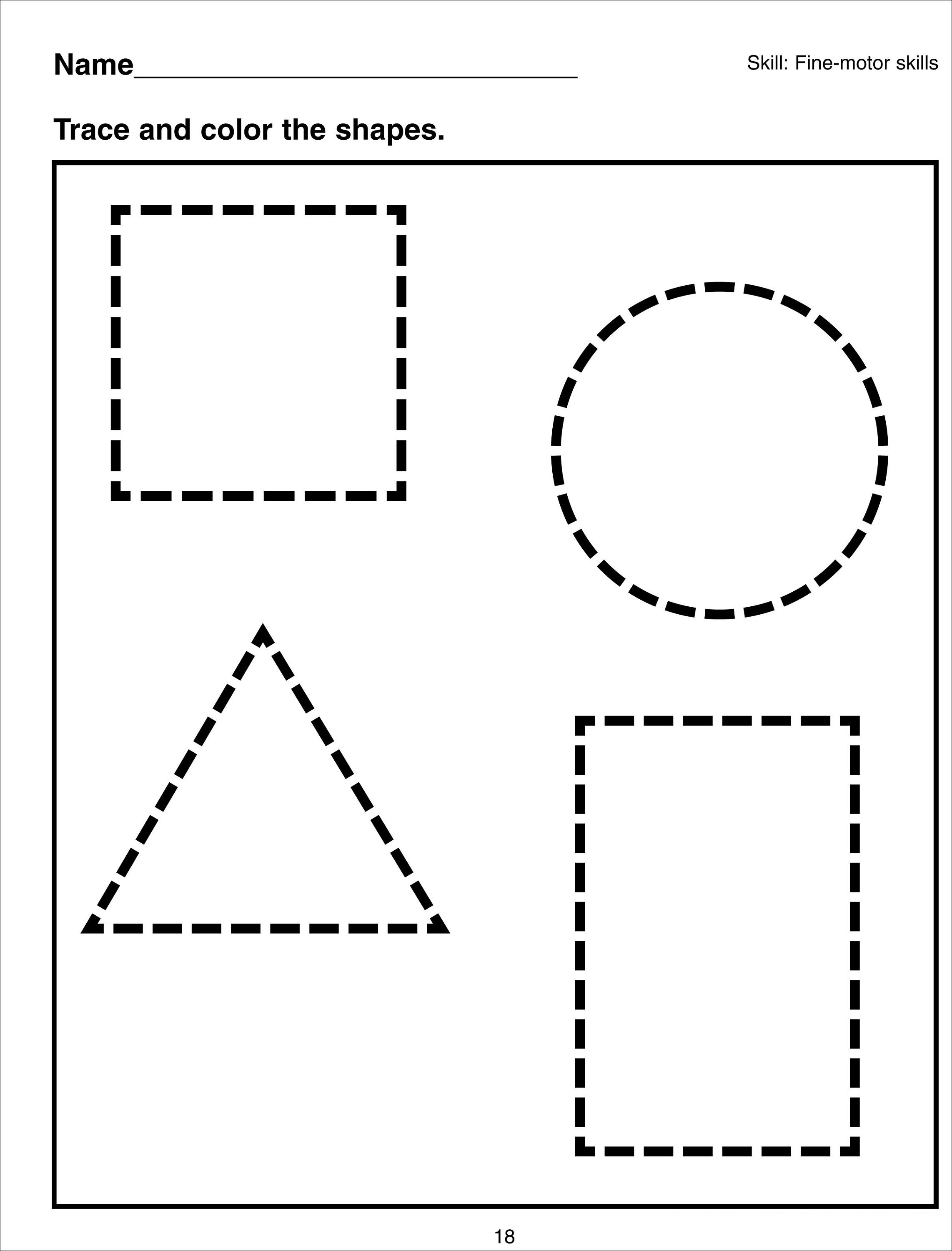 10 Best Matching Shapes Worksheets For Preschool Images On