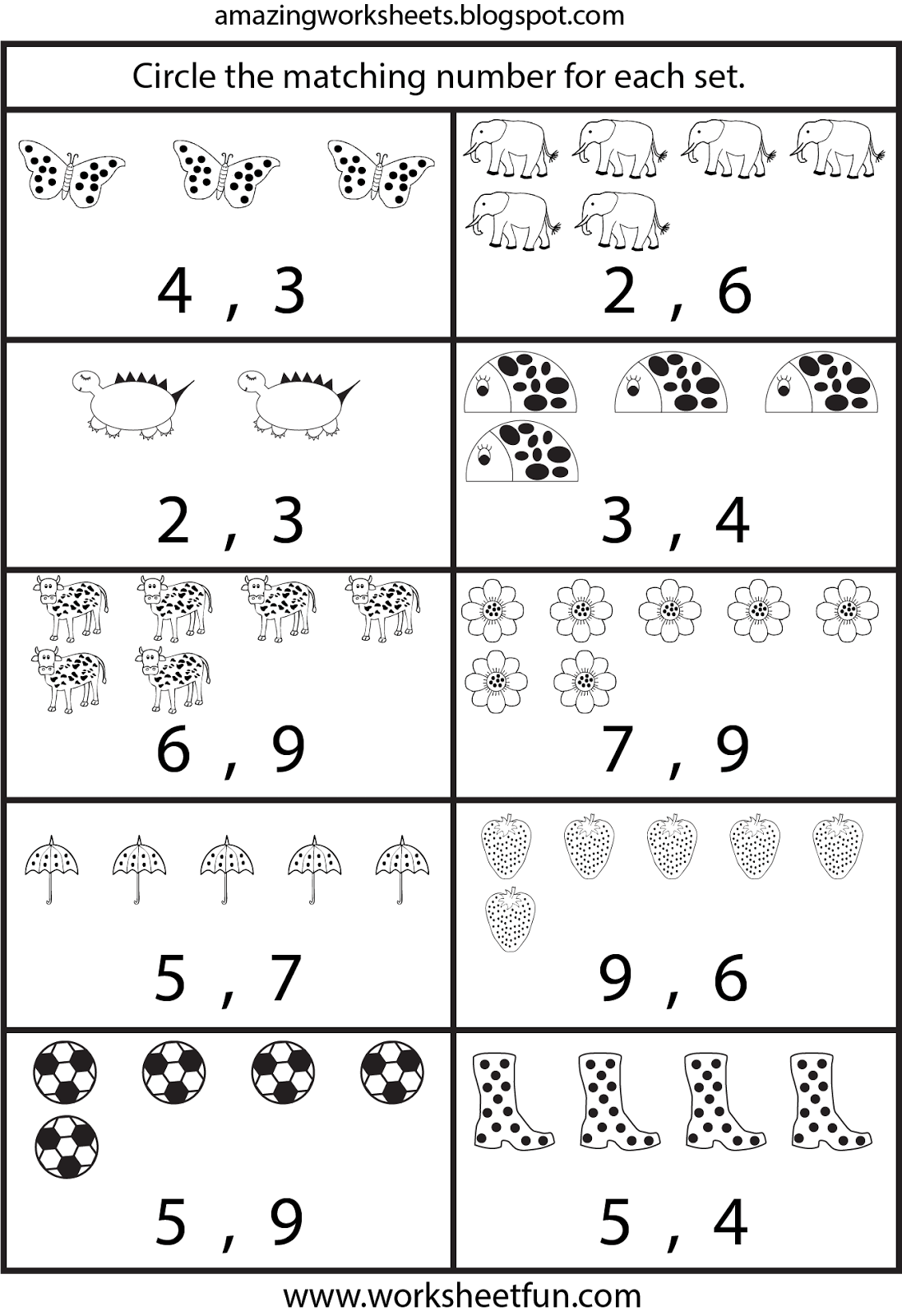 Free Printable Worksheets Counting Worksheets For On Best