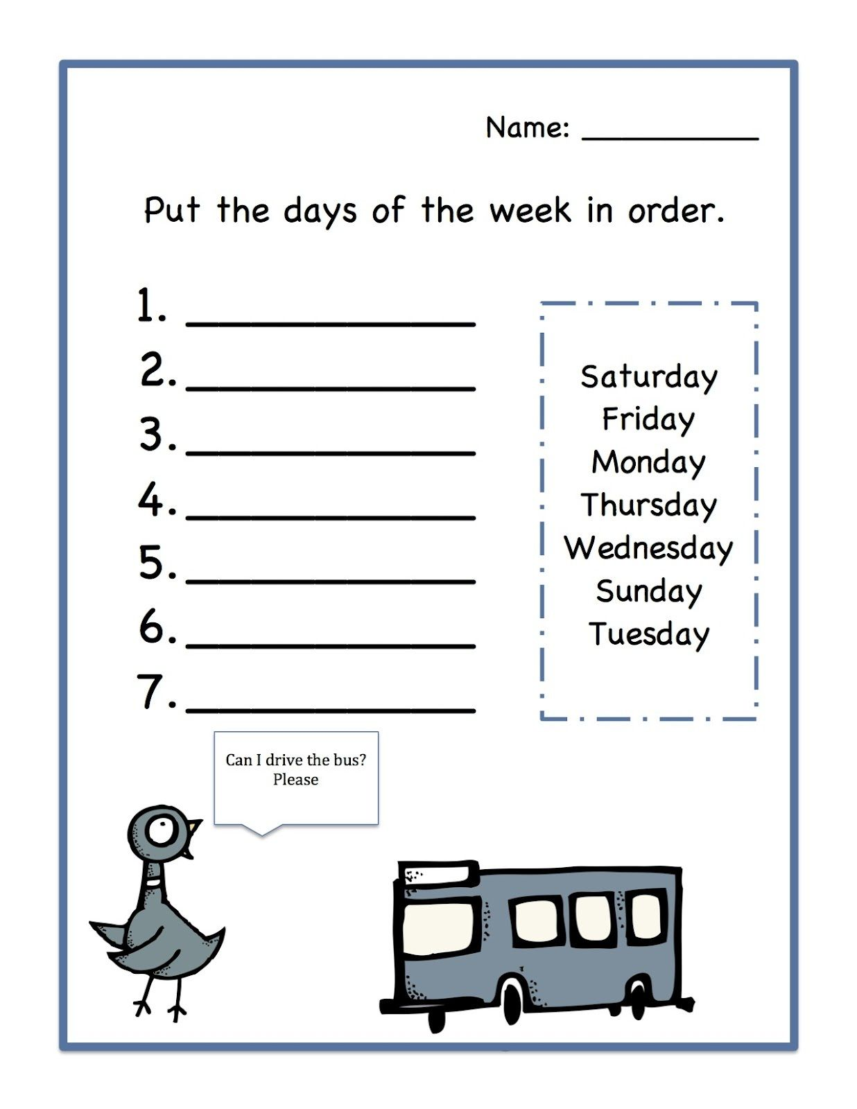 18 Best Days Of The Week Tracing Worksheets Images On Best