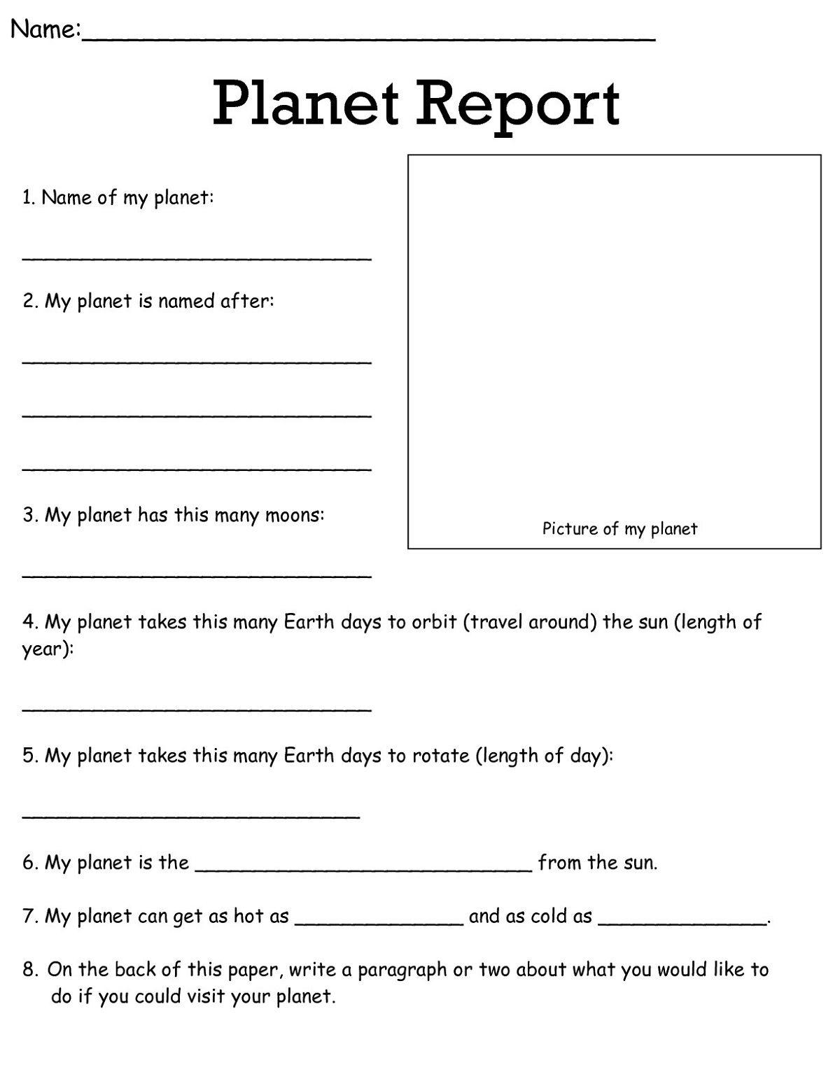 3rd Grade Worksheets Science