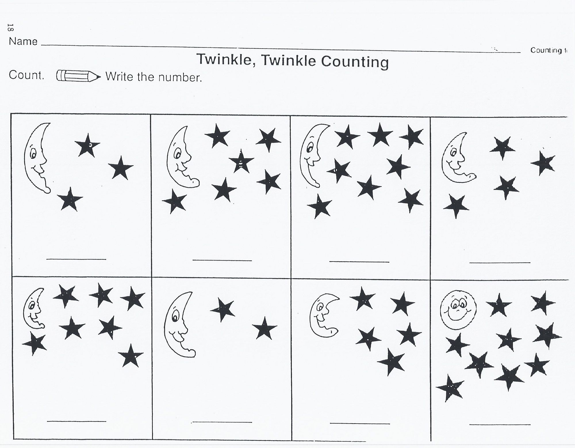 12 Best Star Worksheets For Toddlers Images On Best