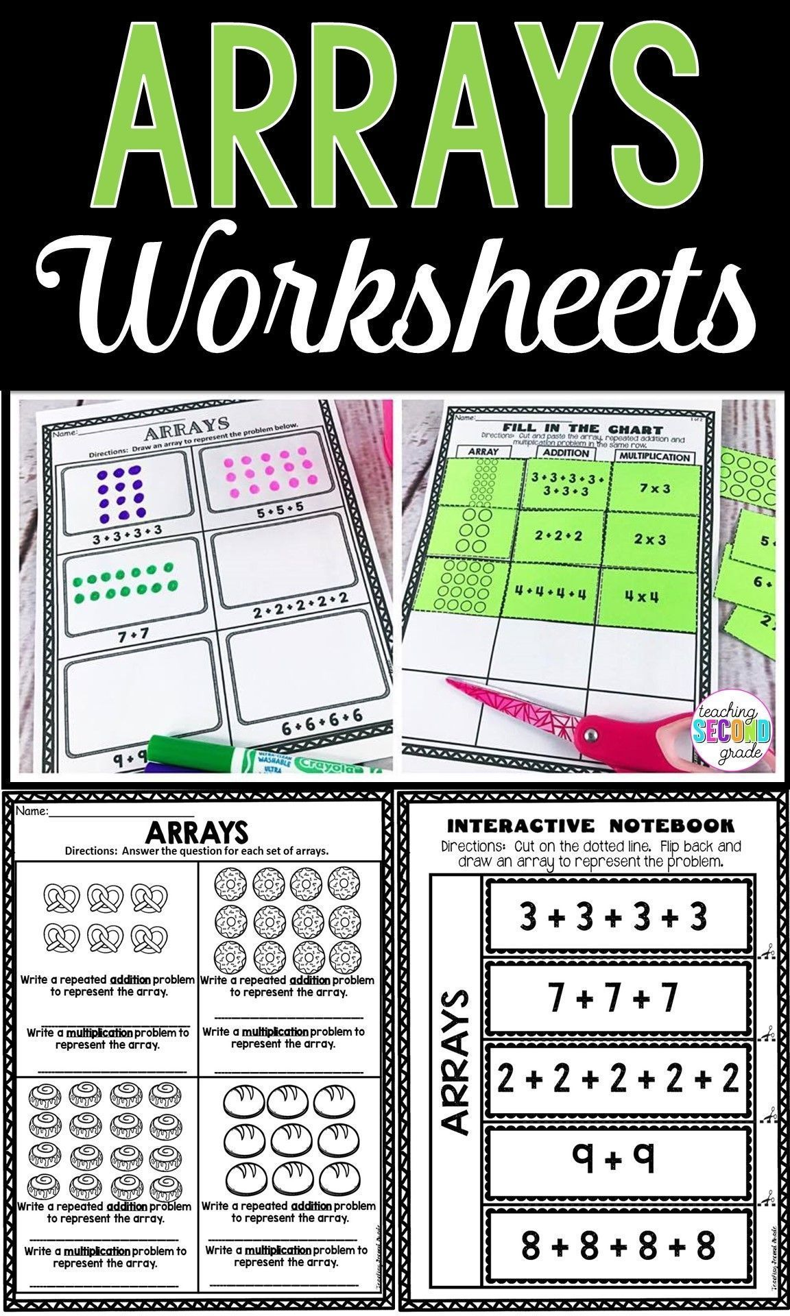 12 Best Multiplication Array Worksheets 3rd Grade Images