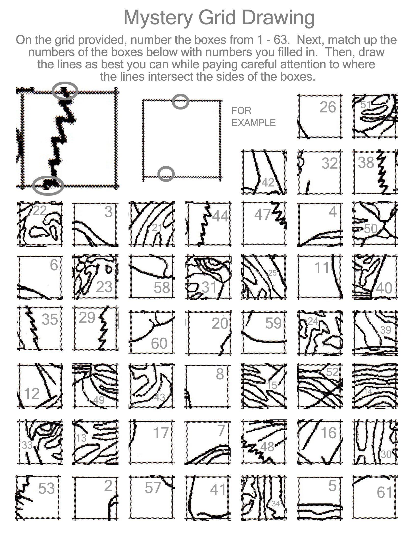 11 Best Drawing Grid Art Worksheets Printable Images On