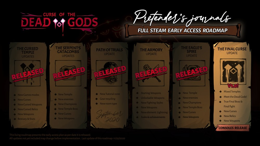 Curse of the Dead Gods - Early Access Roadmap | Passtech Games, Focus Home Interactive