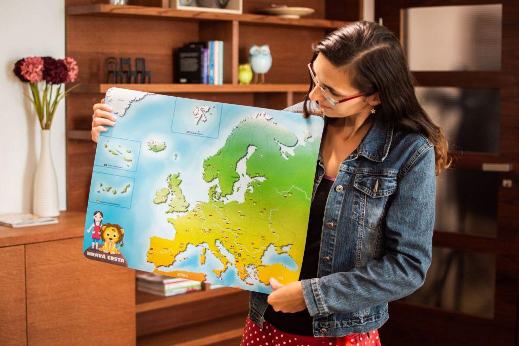 Tuláčkův svět - magnetická mapa Evropy