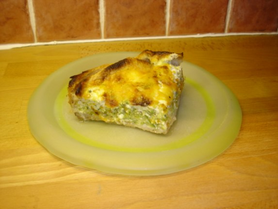 Tarte fondante de légumes, cottage cheese